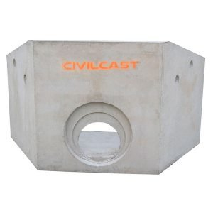 stormwater precast concrete headwall