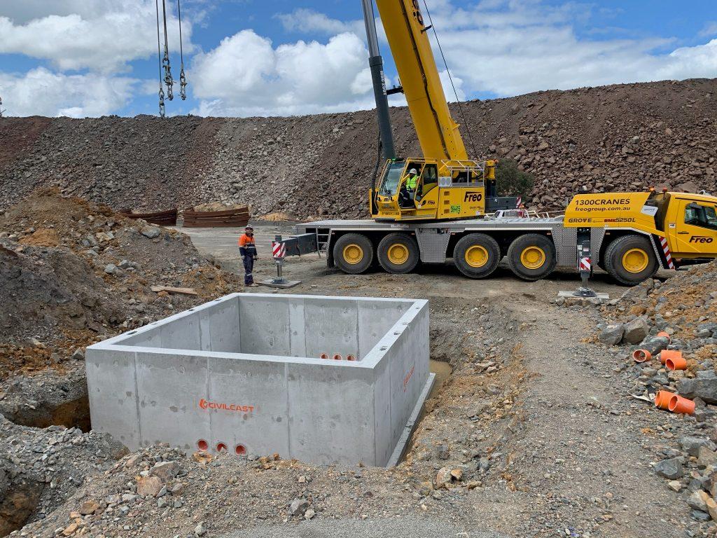 Civilcast Custom Precast Concrete Pit